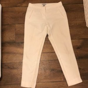 H&M white ankle pants. Size 4